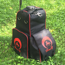 Equestrian Bag Oxford Horse Riding Boots & Helmet Bag Waterproof Backpack
