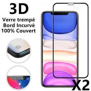 Vitre Protection Ecran Total Film Verre Trempé iPhone XS Max XR 6 7 8 11 12 Pro