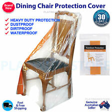4 x Dining Chair Furniture Protector Plastic Dust Cover Small Sofa Storage Bag