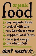 ORGANIC FOOD Poster / Print Kitchen Home Decor Fine Art Print BUY HEALTHY FOODS