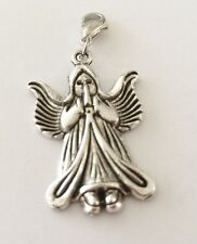 LARGE SILVER GUARDIAN  ANGEL CLIP ON CHARM FOR BRACELETS-TIBETIAN SILVER - NEW