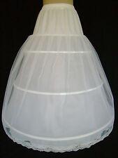 jupon de Mariée  3 cerceaux  col/Blanc  2,75m de circonférence