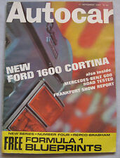 Autocar magazine 21/9/1967 featuring Mercedes 600 road test, Jensen C-V8