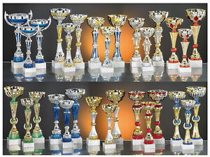 lot de 30 coupes trophées recompenses entre 20 et 42 cm