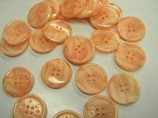 6 boutons neuf mercerie plastique  abricot devernois 2.3 cm lot 801