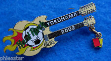 YOKOHAMA WORLD CUP FIFA SOCCER FOOTBALL REFEREE CARDS GUITAR Hard Rock Cafe PIN
