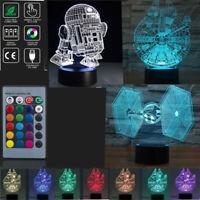 Lamp Star Wars Desk RGB 3D Illusion LED Lantern Night light Kids Cartoon Gifts