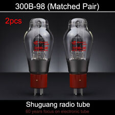 2pcs Matched Pair Tested by Factory Shuguang 300B-98 Vacuum Tube 300B
