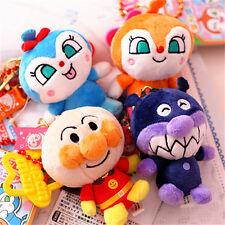 New Anpanman Plush Stuffed Animal Keychain Bag Accessories 4PCS Toy Mascot Gift
