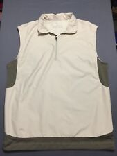 NIKE GOLF Fit Storm Vest Windbreaker Size Small Vented 100% Polyester Beige Tan