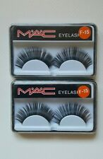 2 X M*A*C COSMETIC FALSE EYE LASHES # F-15 THICK AND LONG BLACK EYELASHES