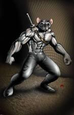 Ken-Po Ratsu Warriors manga anime art anthro rat 11x17 signed print Dan DeMille