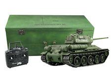 RC Panzer T-34/85 R&S 2.4GHZ Holzbox Metallketten Metallgetriebe QC M1:16