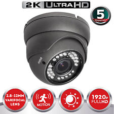 5.0MP 1920p CCTV Dome Camera Wide angle Ultra HD VariFocal 2.8~12mm Lens 30M IR