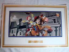"Toy Story 2 Disney Pixar McDonalds  Poster ""Woody and Jessie Take a Wild Ride"""
