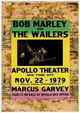 Bob Marley Reproduction Concert Poster, Metal Plaque Concert Poster Vintage