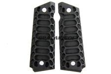 "5Ku Cnc Aluminum Full Size ""Cobra"" Pistol Grip Cover For Marui M1911 Black Gb437"