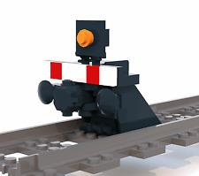 Eisenbahn 1x Prellbock mit Puffer + Magnet - NEUWARE - 9V - RC - Lok - aus Lego®