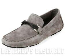 e41e4d01a5d Salvatore Ferragamo Gray 8e Suede GranPrix Driving Moccasin Shoes Authentic