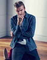 H&M Mens David Beckam Blue Denim Shirt Jacket RRP £30
