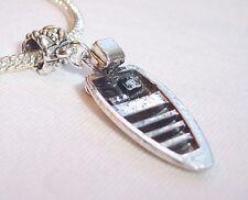 Large Outboard Motor Boat Beach Dangle Bead for Silver European Charm Bracelets