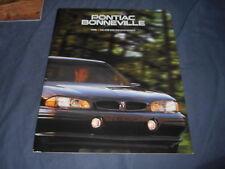 1996 Pontiac Bonneville Color Brochure Catalog Prospekt