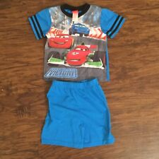 Disney Cars Road to Victory Size 4 Short Sleeve Shirt Shorts Pajama Set