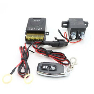 Car Battery Disconnect Cut Off Isolator Master Switch W/ Wireless Remote Control