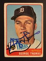 George Thomas Tigers Signed 1965 Topps Baseball Card #83 Auto Autograph