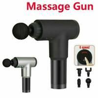Electric Massage Gun Massagepistole Massager Muscle Massagegerät mit 4 Köpfe Neu