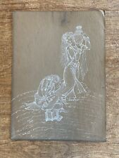 Antique Islamic Persian White Ink On Paper Signed