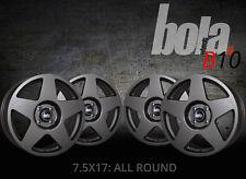 17 inch BOLA B10 4x100 ET40-45 7.5J GUNMETAL alloy wheels  Acura INTEGRA Alpina