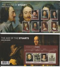 GB 2010 HOUSE OF STUART KINGS & QUEENS PRESENTATION PACK  443 & MS SG:3087-3093