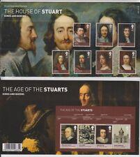 GB 2010 STUART Kings & Queens presentazione confezione da 443 & MS sg:3087-3093