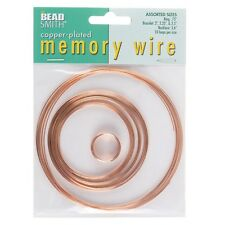 Beadsmith Memory Wire Copper Plated 10 Loops 5 Sizes (E41/3)