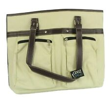 Axiz Group New Ivory Canvas Laptop Bag, Zippered Pockets, Holds 17 Inch Laptops