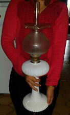 ANTIQUE LAMP OIL OPALINE VICTORIAN BACCARAT LAMPE À PÉTROLE