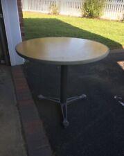 "Knoll KnollStudio Pedestal dining cafe table 36 inch 36"", birch wood veneer"