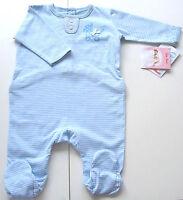 Schlafanzug Gr.56 Käthe Kruse NEU mE 100% Baumwolle bio blau Strampler baby