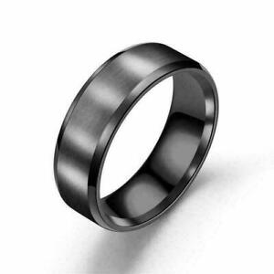 8mm Unisex Couple Stainless Steel Anti-allergy Wedding Engagement Rings