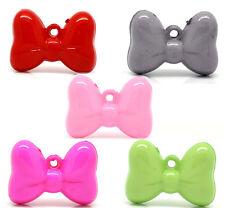 5 x large acrylique bow/knot charms - 29 x 21mm - ** gratuite ** même jour livraison