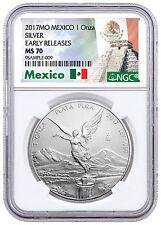 2017-Mo Mexico 1 oz Silver Libertad NGC MS70 ER Exclusive Label SKU47090