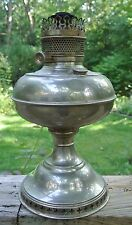 Antique 1904 Perfection Metal Base Oil Lamp with Decorated Base