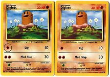 POKEMON (ERREUR)(MISPRINT) DIGLETT 47/102 Sideways fighting Symbol Misprint