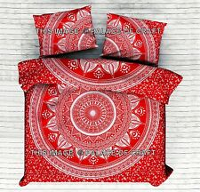 Indian Ombre Mandala Comforter Bohemian King Duvet Cover Hippie Quilt Doona Set