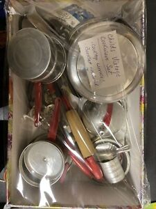 Vintage Aluminum Childs Kitchen Cookware