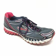 Women's Brooks Ghost 6 Shoes Sneakers Size 9.5B Running Gray Blue Red Pink U13