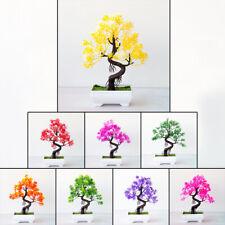 Árbol Bonsai Artificial Falso Flores Plantas Olla Adornos Decoración Del Hogar Macetas pequeñas