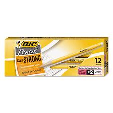 Bic Mechanical Pencil Xtra Strong .9mm Yellow Dozen MPLWS11BLK