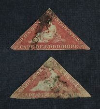 Ckstamps: Gb Stamps Collection Cape of Good Hope Scott#3 Used 2 Shades Thin